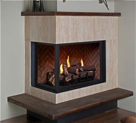 Corner Direct Vent Gas Fireplace by Gas Fireplaces H38cr Hp38cr H38cl Hp38cl Kastle Fireplace