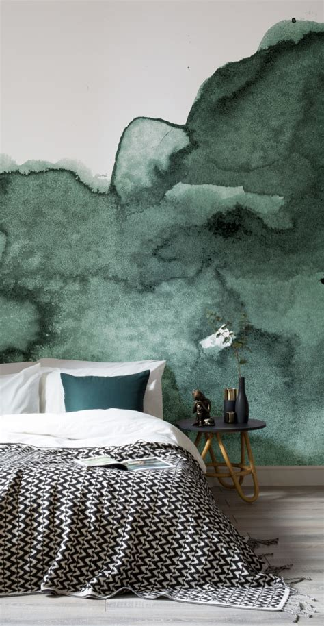 green wallpaper murals dream on with these 11 watercolour wallpapers murals