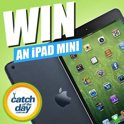 Facebook Ipad Mini Giveaway - catchoftheday win an ipad mini facebook giveaway australian competitions