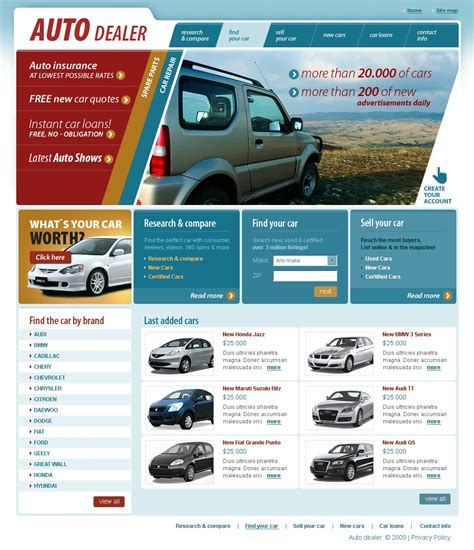 Car Dealer Website Template 26113 Car Dealer Website Template