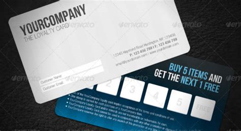 loyalty card design template loyalty card template 12 great designs to use now