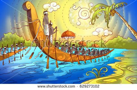 drawing of boat race in kerala kerala boat race stock images royalty free images