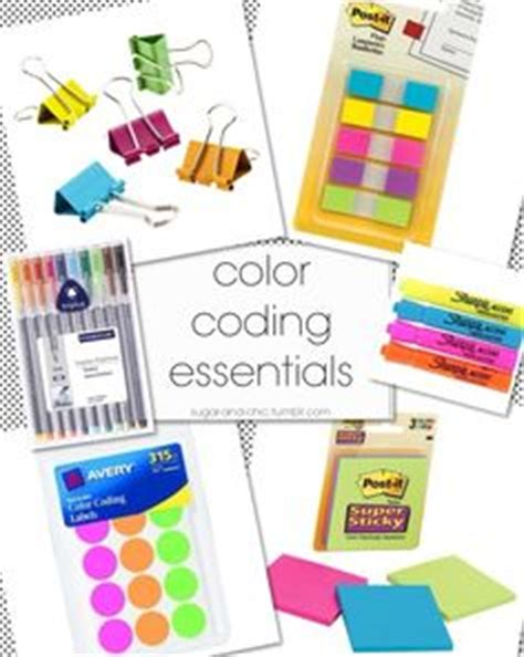 essentials color codes color code on color coding planner aura