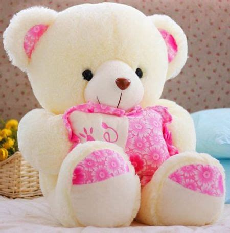 Boneka White Teddy koleksi gambar teddy terbaru paling lucu setangkai