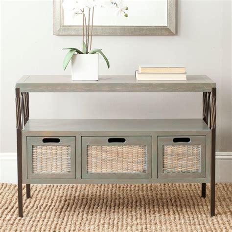 gray tv table safavieh joshua ash grey storage console table amh6532b