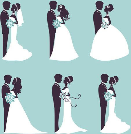 Wedding Vector Silhouette by Sina With Wedding Vector Silhouettes Free Vector In
