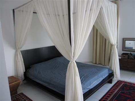 bed frame curtains enhance your fours poster bed with canopy bed curtains