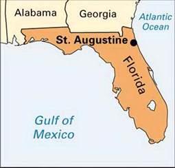 st augustine map florida augustine encyclopedia children s homework