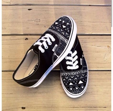 tribal patterned shoes shoes aztec tribal vans vans maya print blanck and