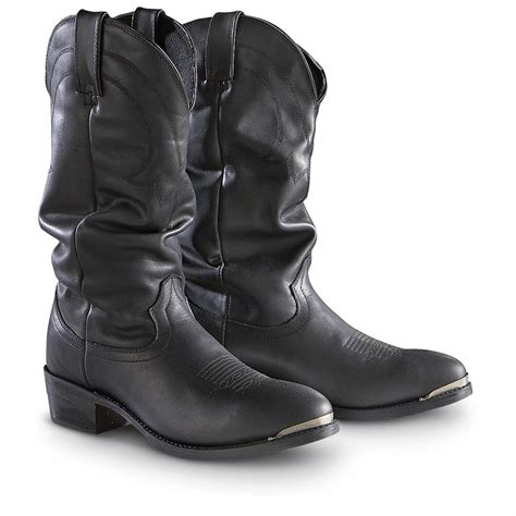 s slouch boots s road wolf 12 quot slouch boots black 193725 cowboy
