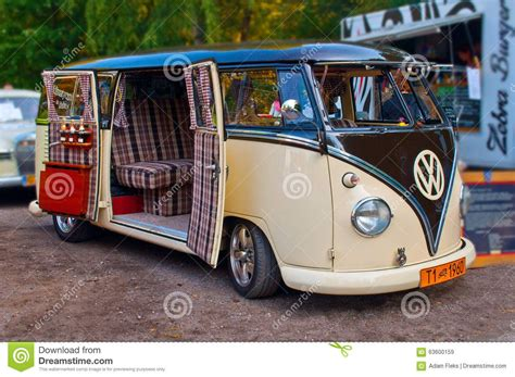 volkswagen classic bus old and beautifully renovated vw t1 kombi van from 1960