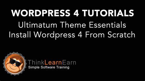 ultimatum theme creator 2 ultimatum theme essentials install wordpress 4 from