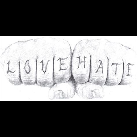 tattoo knuckles love hate love hate knuckle tattoo series drawing by vera b