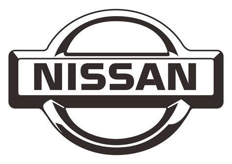nissan logo vector nissan black white design logo vector automobile