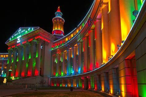 night civic center christmas lights denver mx photos