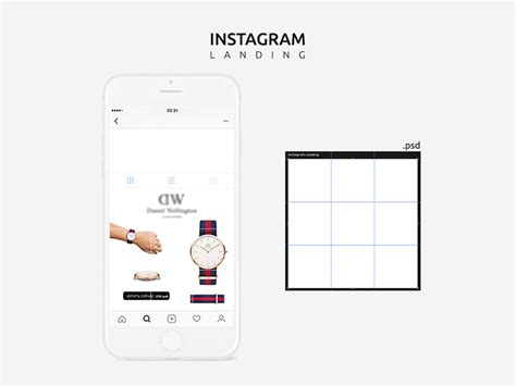 Instagram Mobile Mockup Template Freebie Download Photoshop Resource Psd Repo Instagram Template Psd
