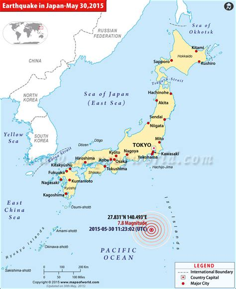 earthquake in japan japan earthquakes map areas affected by earthquakes in japan