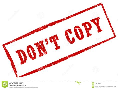 Dont Coppy Me don t copy st stock illustration image of background 11977845