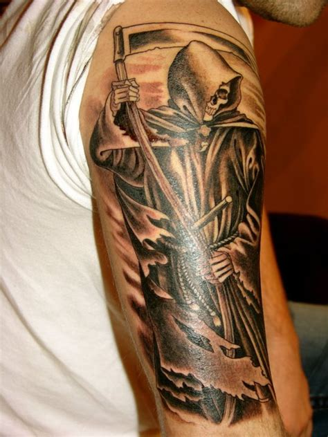 grim reaper forearm tattoo grim reaper arm black ink arm tattoos best tats