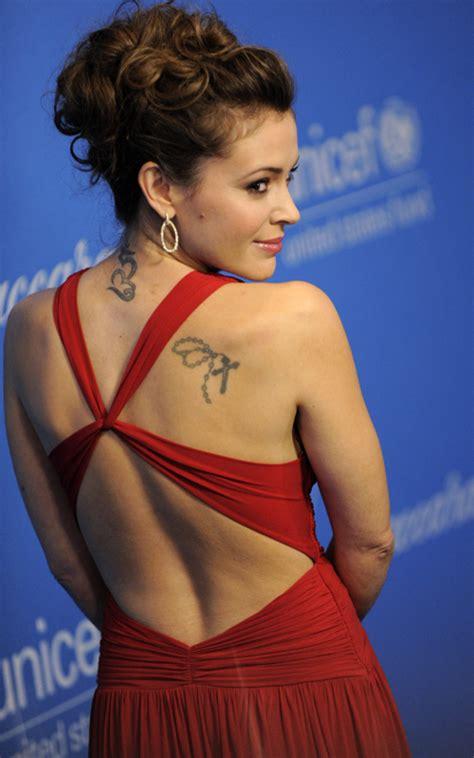 alyssa milano tattoo alyssa milano hairstyles and tattoo photo gallery