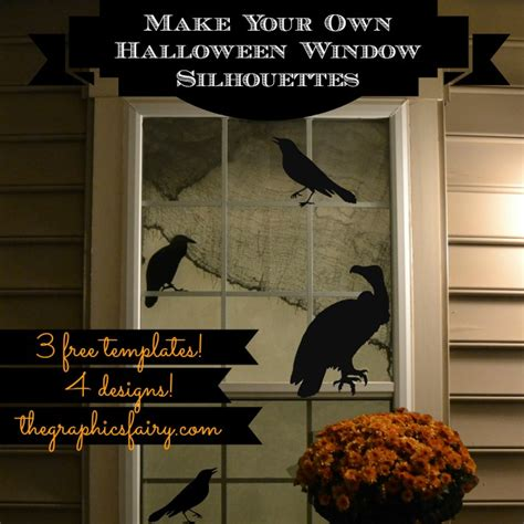 halloween window silhouette templates the graphics fairy
