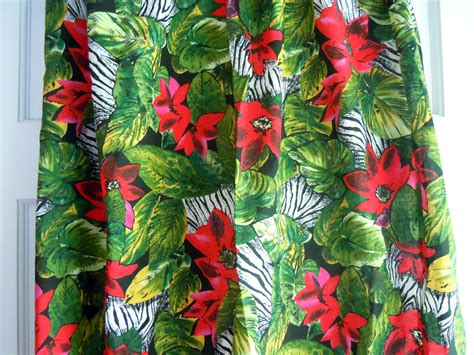 jungle pattern fabric jungle print vintage floral fabric 1 plus yard by evepeachart