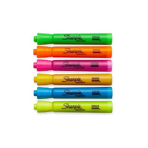 %name Colored Sharpies   Sharpie Accent Tank Style Highlighters, 6 Colored Highlighters (25076) 640206580830