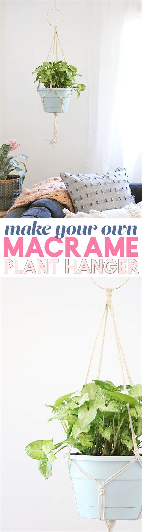Make Your Own Macrame Plant Hanger - simple diy macrame plant hanger lou