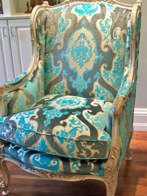fabrics for chairs 25 best turquoise fabric ideas on turquoise