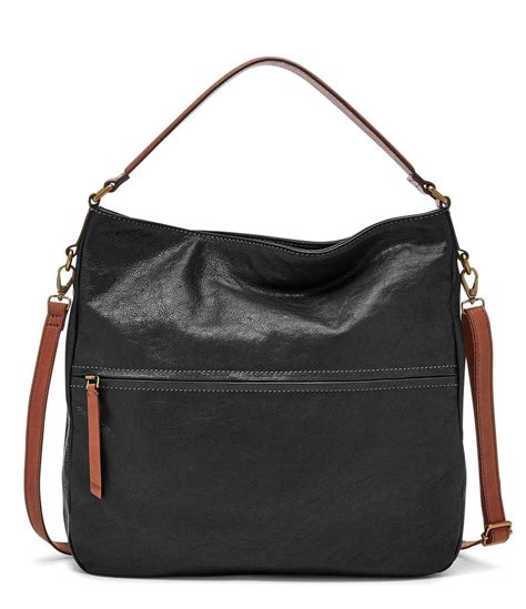 Fossil Hobo Bag In Bag fossil corey hobo bag in black lyst