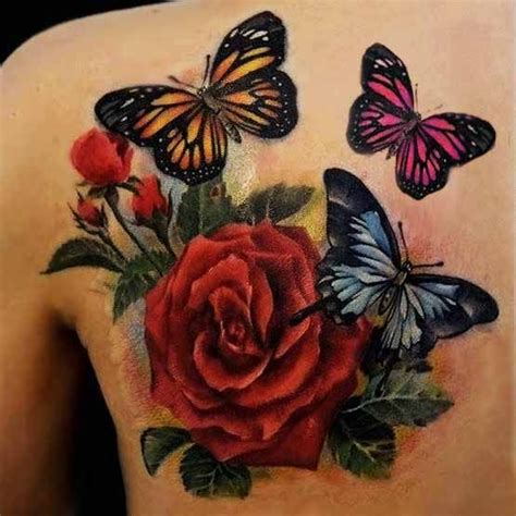 rose tattoos with names in them 76 best butterfly and flower tattoos images on