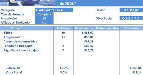 empleados comercio escalas febrero 2014 jornada completa empleados de comercio liquidaci 243 n de febrero 2015