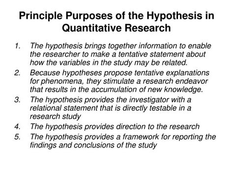 how to state a hypothesis in a research paper ppt research variables hypothesis powerpoint