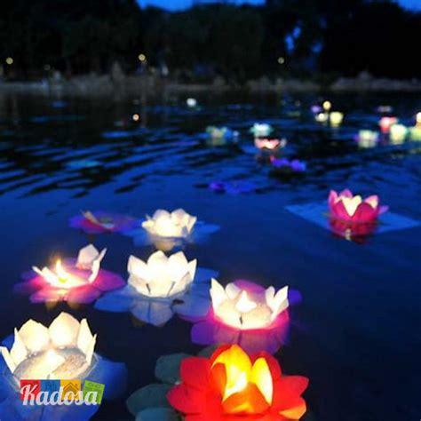 fiori galleggianti lanterne galleggianti fiore di loto set 30 pz in colori
