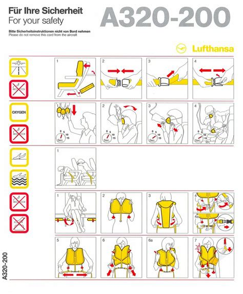 airplane safety card template 41 best safety cards images on airplanes