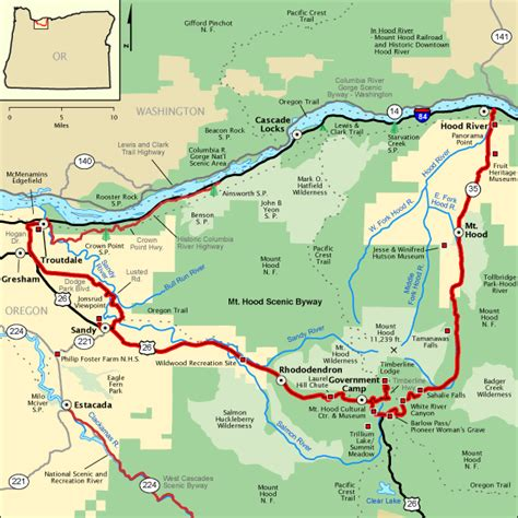 map of oregon mt columbia river gorge part i gt wildflowers lost lakes