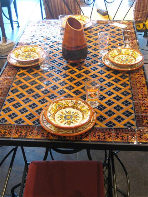 Mosaic Kitchen Table 25 Best Ideas About Mosaic Tile Table On Tile