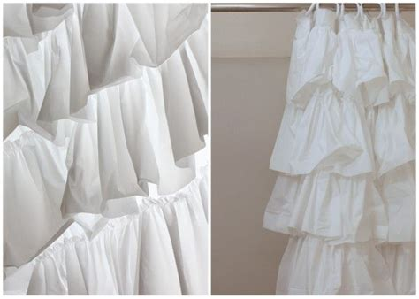 anthropologie ruffle shower curtain tutorial on making your own anthropologie look a like