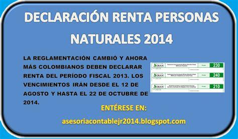 declaracion jurada 2015 personas naturales asesoria contable jr