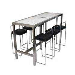 Bar Table And Stool High Bar Table 6 Stools Black Set