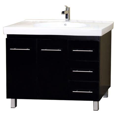 Modern Single Sink Bathroom Vanities Modern Single Sink Wood Vanity In Bathroom Vanities