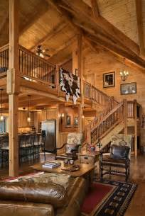 Log Cabin Loft by Great Room With Loft For The Home