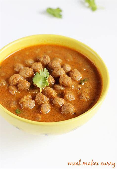 vegetarian recipes with soya chunks soya chunks curry recipe meal maker curry soya chunks