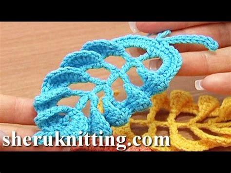 crochet leaf pattern video dailymotion caminho de mesa em croche encantos da natureza