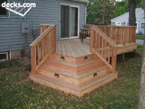 Deck Corner Stairs Design Lighted Stairs Backyard Patio Ideas Pinterest