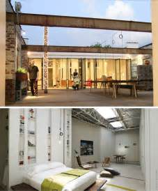 radical remodel warehouse to home renovation project home office modern apartment den library home design