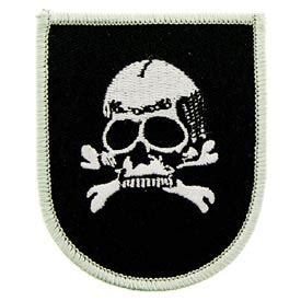 world war ii german death s head 3 quot embroidered iron on patch world war ii collectibles