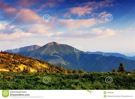 sunny day in the mountains a mountain of the alps switzerland before summer landscape in mountains a sunny day stock photo