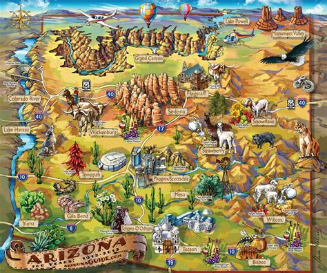arizona state in usa map maps update 18851573 tourist map of arizona arizona