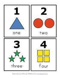 kindergarten printable numbers flashcards free printable number flashcards also can use for